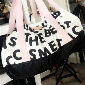 Large Benefit cosmetics duffel bag